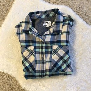 Vans flannel button up